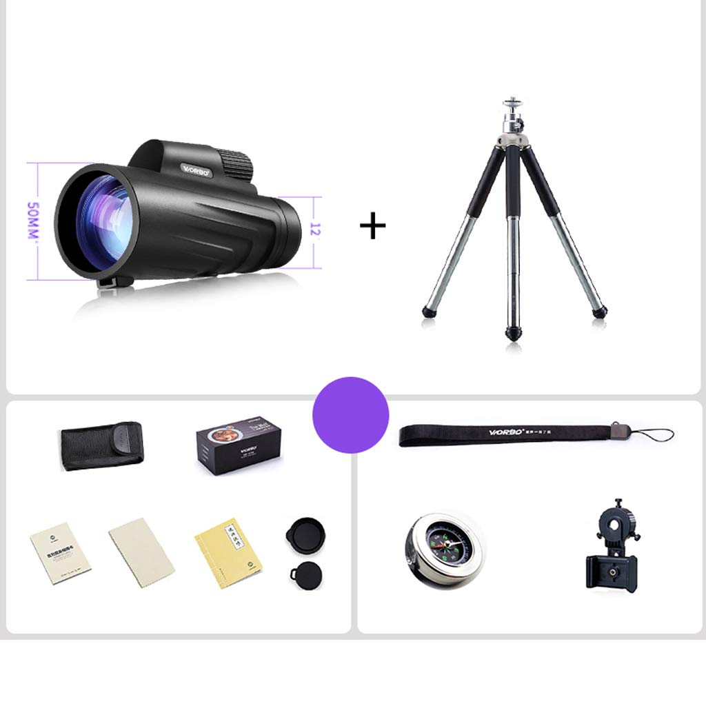 卸し売り購入 三脚の台紙が付いている単眼双眼鏡、電話アダプターが付いている12x50単眼望遠鏡、バードウォッチングのハイキングコンサートのための防水Fogproof望遠鏡 (サイズ さいず (サイズ : : Tripod mount) さいず Tripod mount B07MLBLPF3, サントノーレ:4c34822e --- a0267596.xsph.ru