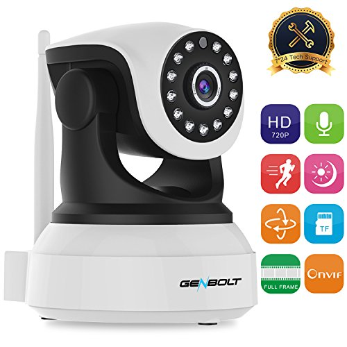 720P WiFi Security Dog Camera HD Pan Tilt IP Network Surveillance Webcam,Day Night Vision,Baby Monitor,Two-Way Audio,Built-in Microphone Pet Cam,SD Card Slot(128GB)