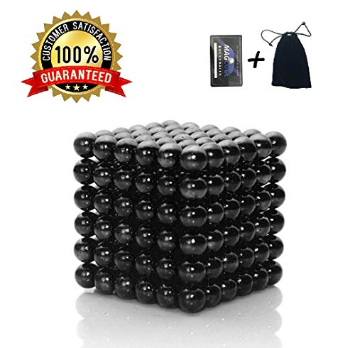 - Brain Teaser,5MM 216-Pieces Cube Toy,Multidimensional Sculpture Building Blocks Toy for Children Intelligence Learning & Office Toy for Stress Relief for Kids or Adults,Black 03