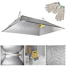 "35x29"" Indoor Grow Light Reflector Hood For 250w 400w 600w 1000 watt HPS MH Tent"