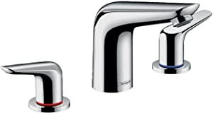 hansgrohe Focus N Modern Low Flow Water Saving 2-Handle 3 5-inch Tall Bathroom Sink Faucet in Chrome, 71140001