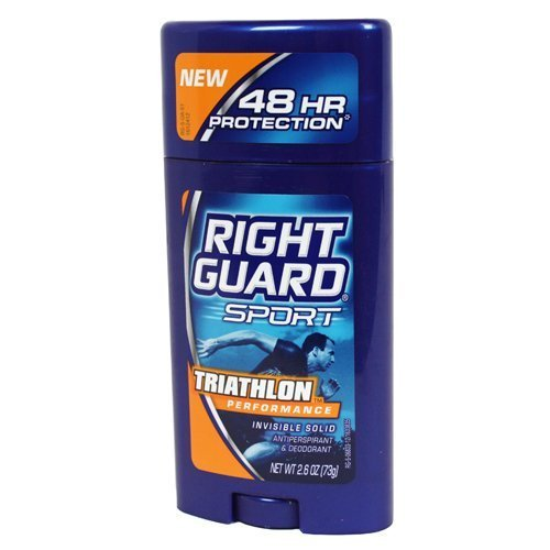 Right Guard Sport Anti-Perspirant/Deodorant, Invisible Solid, Triathlon, 2.8oz, 3 Pack by Right - Online Triathlon Stores