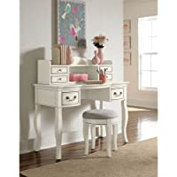 Hillsdale Kids and Teens 20540NDH Kensington Writing Desk with Hutch, Antique White