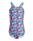 iDrawl Swimwear for Girls, One Piece Swimsuit Ruffle Back Bathing Suit