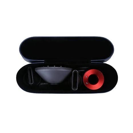 BUBM Caja de secador de pelo, portátil secador de pelo de viaje Funda de cuero de la PU Flip organizador de caja dura para Dyson secador de pelo ...