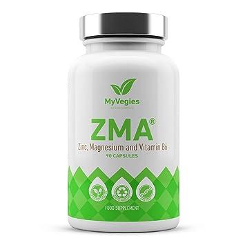 MyVegies Suplemento 100% Pure Vegan ZMA - 90 Cápsulas fuente de cinc, magnesio y vitamina B6, 30 dosis: Amazon.es: Salud y cuidado personal