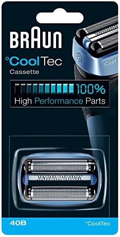 Braun 40B - Recambio para afeitadora eléctrica hombre, compatible con CoolTec, color azul: Amazon.es: Salud y cuidado personal
