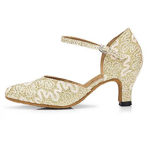 Blanco Modern White Zapatillas Mujer T Q para Lace Baile Sparkling T de Glitter Eq7vPxnFF