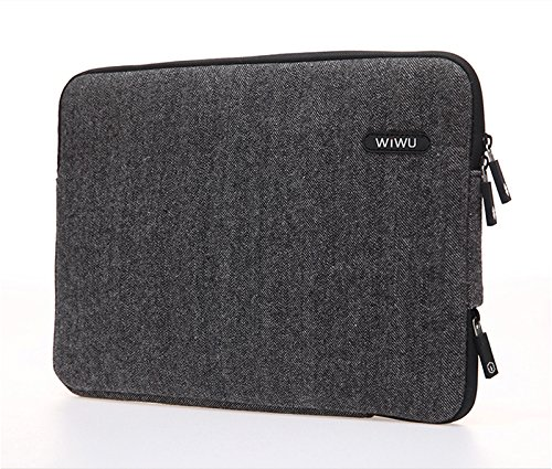 - WIWU Laptop Sleeve Case Bag for 15 Inch MacBook Pro, MacBook Air, Notebook, Side Zipper for Charging Protective Carrying Cover, Coffee
