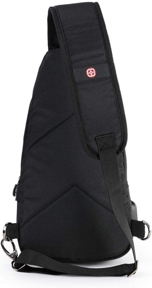 Multi-purpose shoulder bag man bag fashion phone bag chest bag sports messenger bag theft charge,black
