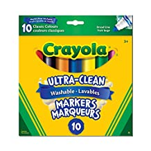 Crayola 10-Count Washable Ultra-Clean Broad Line Markers