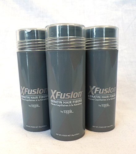XFusion Keratin Hair Fibers 28g - 3 Piece Special (Light Brown) by XFusion