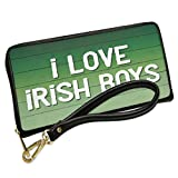 Wallet Clutch I Love Irish Boys St. Patrick's Day Green Fade with Removable Wristlet Strap Neonblond