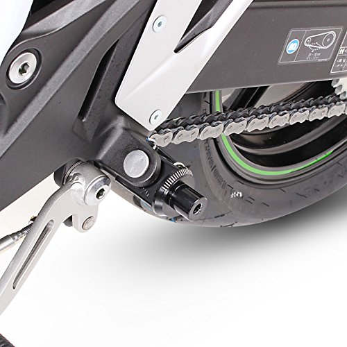 Motorrad Fu/ßrasten Set vorne Alu Fu/ßst/ütze Fu/ßrastenanlage Kawasaki Ninja 400 2018 Puig Racing schwarz