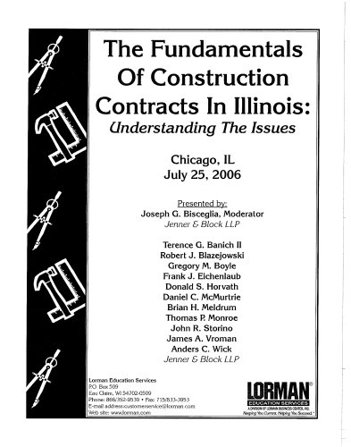 The Fundamentals of Construction Contracts: Understanding the Issues