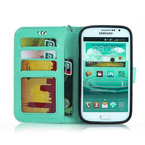 JIALUN-Personality teléfono shell Mariposa de oro de flores en relieve cubierta de la caja Cubierta de silicona de cuero de color sólido para Samsung Galaxy 9082 Seguridad y Moda ( Color : Golden ) Fruit Green