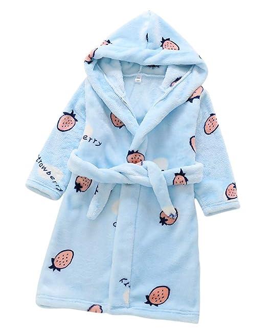 Toalla para Niños con Capucha Super Suave Cómoda Terry Albornoz Bata Pijama Ropa Housecoat: Amazon.es: Ropa y accesorios