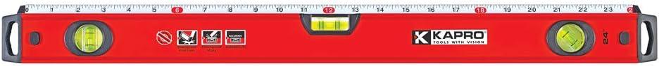 Kapro 770-42-24 Exodus Professional Box Level with 45° Vial & Ruler, 24-Inch Length