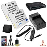 Two Halcyon 1600 mAH Lithium Ion Replacement NB-6L Battery and Charger Kit + Memory Card Wallet + SDHC Card USB Reader + Deluxe Starter Kit for Canon PowerShot SX260 HS 12.1 MP Digital Camera and Canon NB-6L