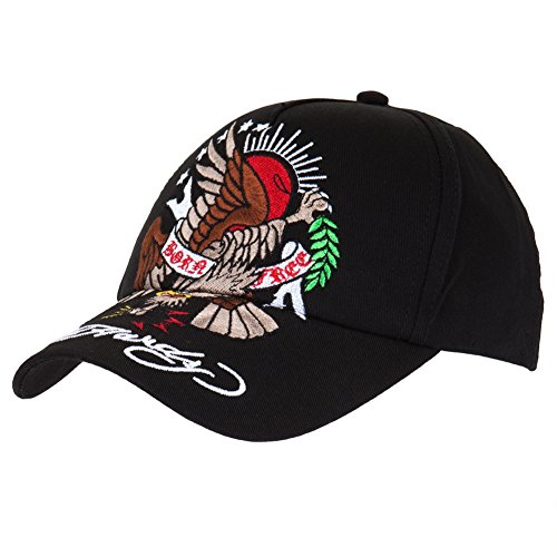 Ed Hardy Boys Born Free Eagle Cap - Black