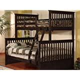 Bunk Bed - Twin Over Double Detachable (Espresso)