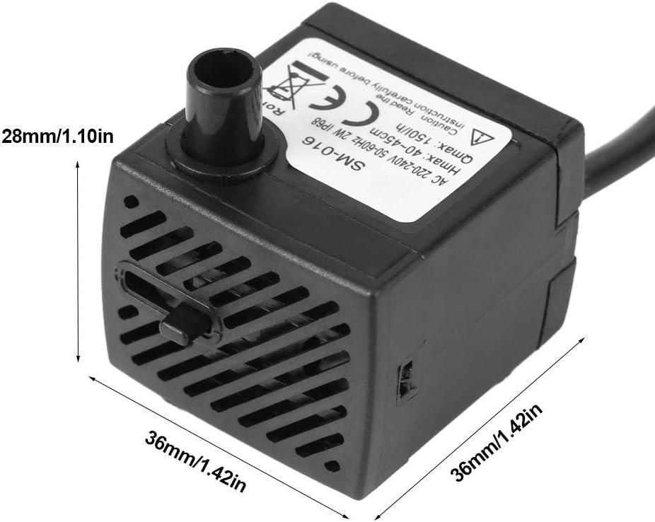 Acogedor Pompa sommergibile 150L // H A Pompa Acqua Fontana per Stagno//Acquario//Acquario//statuario//idroponica Mini Pompa Acqua sommergibile