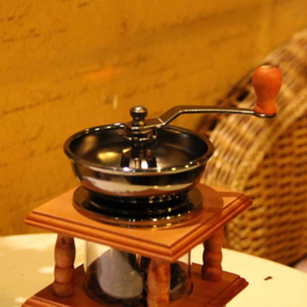 AYANJIA Molinillo de caf/é Manual,Coffee manuales moledor Cafe molido moledora con n/úcleo de molienda de Hierro Fundido