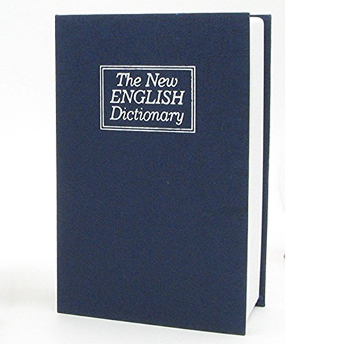 RETYLY Dictionary Book Safe Diversion Secret Hidden Security Stash Booksafe Lock/&Key Blue