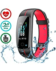 LATEC Fitness Tracker [Latest Version], Colour Screen Activity Tracker Smart Bracelet Waterproof IP68 Pedometer Smartwatch with Heart Rate Monitor stopwatch for Kids Women and Men