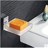 ZZ Brass, chrome plated, brass SOAP dish, square SOAP dish, glass SOAP dish