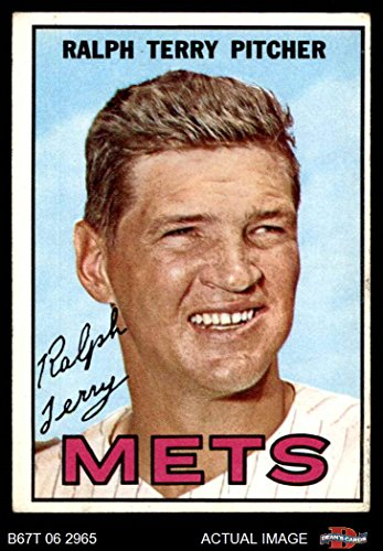 1967 Topps # 59 Ralph Terry New York Mets (Baseball Card) Dean's Cards 4 - VG/EX - Ralphs 59