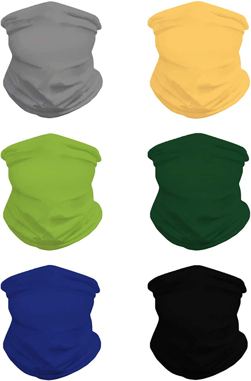 Whoinshop Bandana Face Mask Neck Gaiter, Cool Lightweight Unisex Scarf Mask Tube Multifunctional Headwear