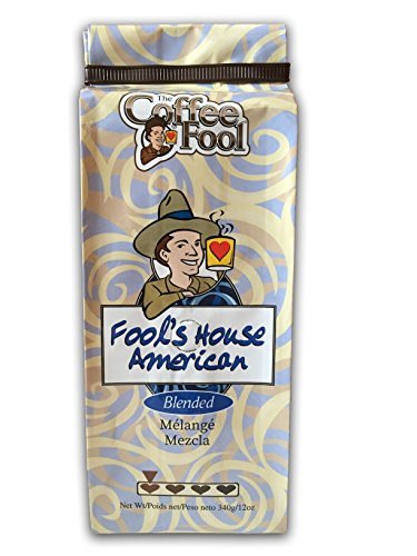 The Coffee Fool French Press, Fool's House American, 12 Ounce ()