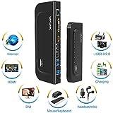WAVLINK USB 3.0 Universal Docking Station Dual Video Monitor Display DVI HDMI VGA Gigabit Ethernet, Audio, 6 USB Ports for Laptop, Ultrabook and PCs