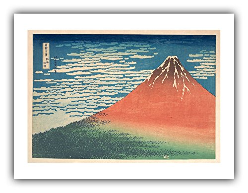 The Ibis Print Gallery - Katsushika Hokusai : ''South Wind, Clear Sky (Red Fuji)'' (c.1830-1832) - Giclee Fine Art Print