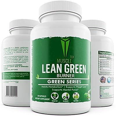 _SUPER FAT BURNER_MUSCLE TEX GREEN LEAN BURNER - Garcinia Cambogia – Green Coffee Bean Extract – Raspberry Ketones – Green Tea Extract – Green Series - Weight Loss For Men & Women