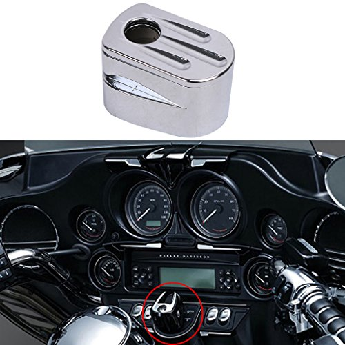 General Mega Chrome Ignition Switch Cover for Harley Touring Street Road Glide 2014-2017