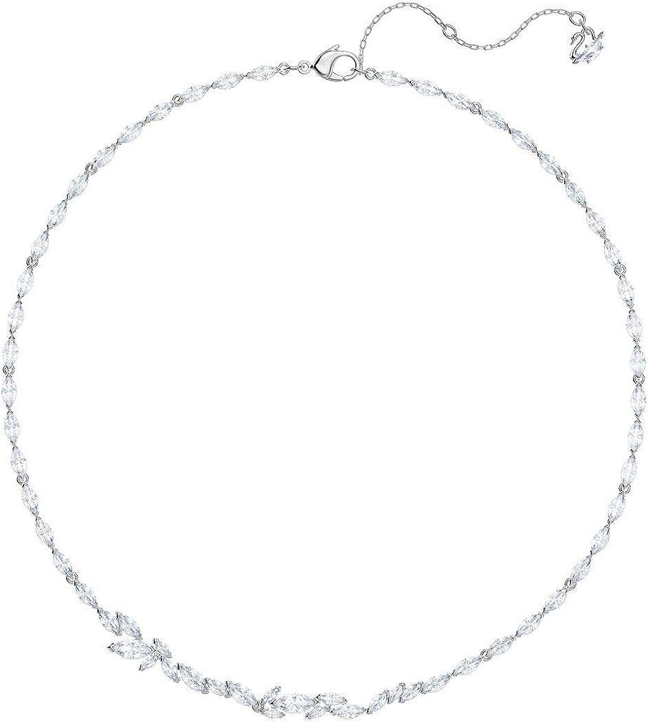 SWAROVSKI Crystal Louison White Rhodium-Plated Necklace