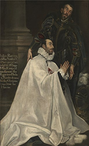 High Quality Polyster Canvas ,the High Resolution Art Decorative Canvas Prints Of Oil Painting 'El Greco Julian Romero And His Patron Saint 1594 1604 ', 12 X 20 Inch / 30 X 50 Cm Is Best For Garage Gallery Art And Home Decor And Gifts