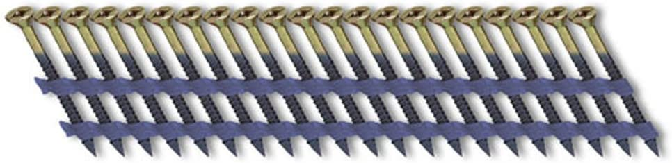 2.25-Inchx0.113-Inch Fasco SCFP713FVEGSF Scrail Fastener Fine Thread 20-22-Degree Plastic Strip Electro-Galvanized Versa Drive 1000 Per Box