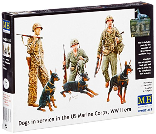 Used, Master Box WWII Dogs in USMC Service Figure Model Kits for sale  Delivered anywhere in USA