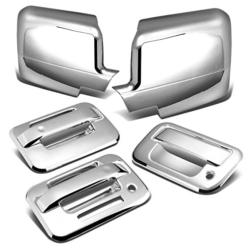 For Ford F-150 11th Gen 2DR Tailgate w/Keyhole+Door Handle w/Keypad+Mirror Cover (Chrome)