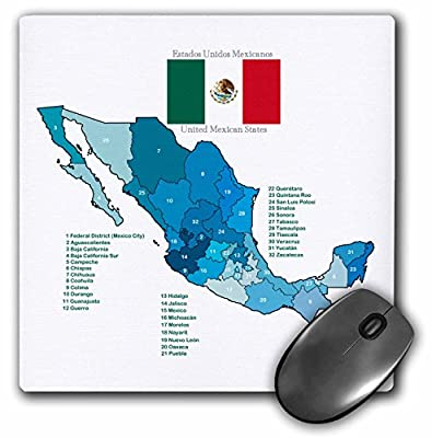 Amazon.com : Flag and Map of Mexico with all the Mexican states ...
