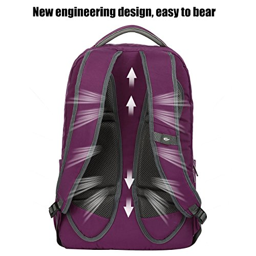 Purple Purple Men's Lightweight Resistant Travel Bag Women 17 Backpacks Inch for College Computer Water OIWAS Laptop Backpack Business Laptop 5TqXTwU
