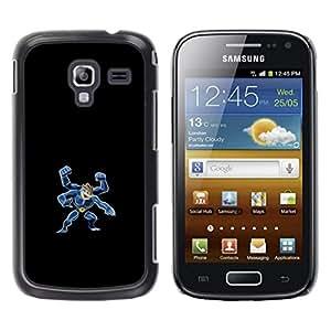 Caucho caso de Shell duro de la cubierta de accesorios de protección BY RAYDREAMMM - Samsung Galaxy Ace 2 - Machamp P0kemon