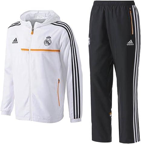 adidas Real Pres Suit – Survêtement de Football pour Homme, BlancOrange