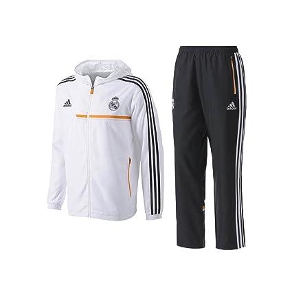 reasonably priced fresh styles good texture adidas Real Pres Suit – Survêtement de football pour homme, Blanc/Orange