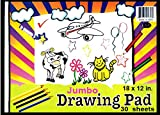 Drawing Pad, 12'' x 18'', 30 Sheets, Case Pack of 48, Ideal for Bulk Buyers