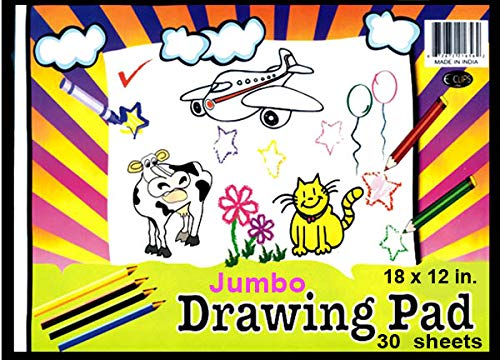 Drawing Pad, 12'' x 18'', 30 Sheets, Case Pack of 48, Ideal for Bulk Buyers by AUKSales