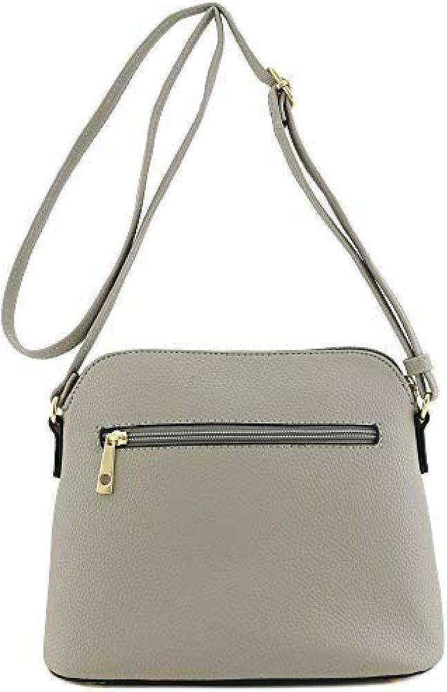 YAOUOBAG Quaste Reißverschluss Umhängetasche Damen Rucksack Generische Damen Taschen Casual Umhängetasche Grau